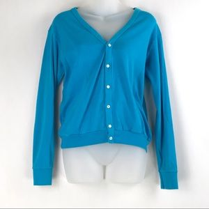 American Apparel | Blue Combed Cotton Cardigan
